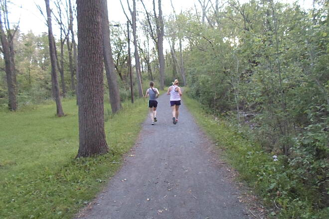Union Canal Trail Union Canal Trail Young women enjoying a run along the trail on a warm, spring evening. Taken May 2014.