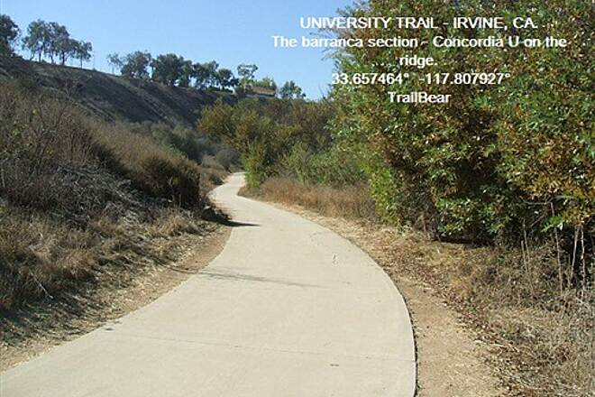University Trail THE UNIVERSITY TRAIL - IRVINE, CA. Between the snakes and the cougars...