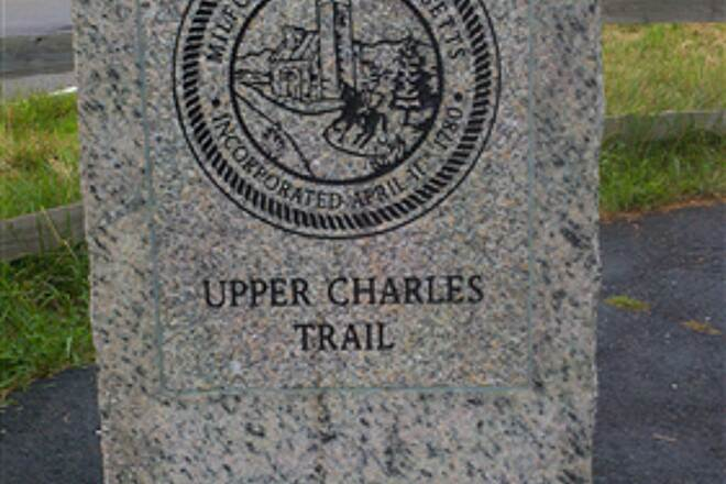 Upper Charles Trail Upper Chartles Trail Milford Section trail marker