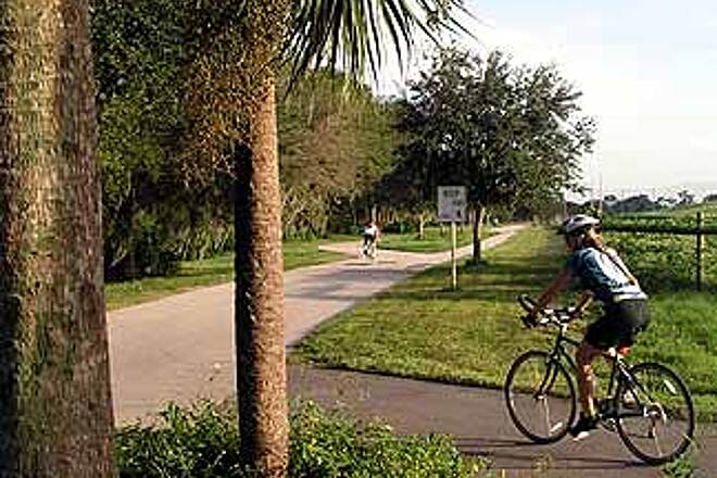 Upper Tampa Bay Trail Intersection between Phase 1 and 2