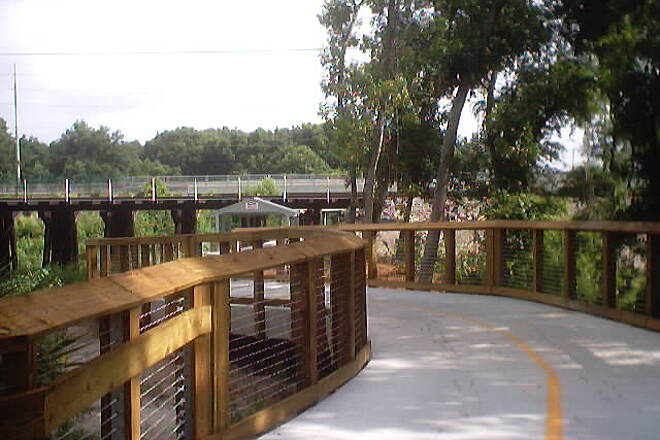Upper Tampa Bay Trail Phase II on June 5, 2004 Phase II curves and twists its way along Rocky Creek and under Linebaugh Ave.