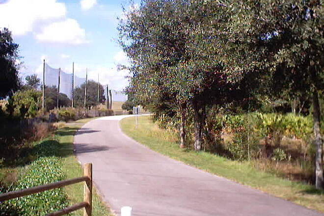 Upper Tampa Bay Trail Current Southern Terminus Where the Upper Tampa Bay Trail meets Linebaugh Avenue.