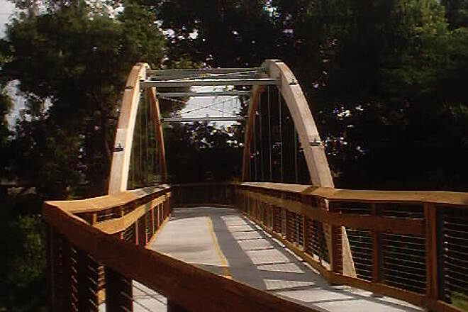 Upper Tampa Bay Trail Phase II on June 5, 2004 A bridge over Rocky Creek, near Linebaugh Ave.