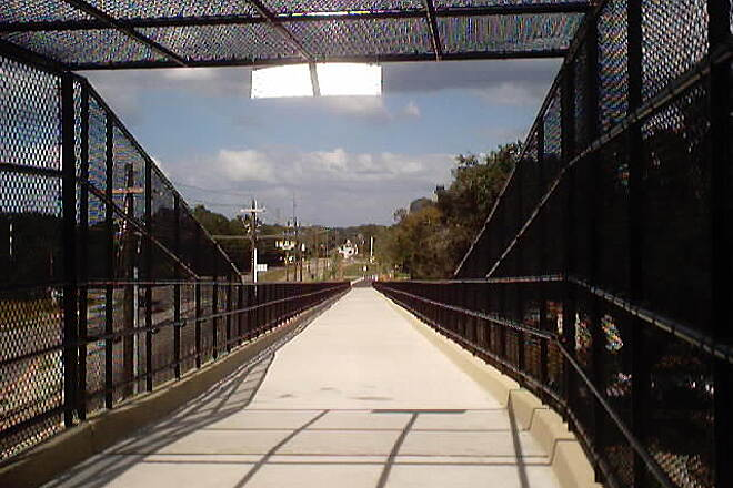 Upper Tampa Bay Trail Gunn Highway Overpass Looking north down the ramp of the Gunn Highway Overpass in Citrus Park.