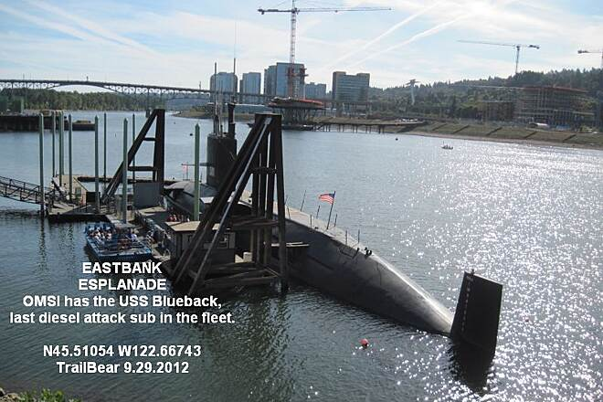 Vera Katz Eastbank Esplanade EASTBANK ESPLANADE End of an era - the last diesel attack sub in the U.S. Navy.  The new ones are nuclear.