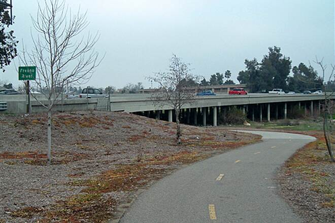 Vernon McCullough Fresno River Trail  Fresno River Trail going under Highway 99