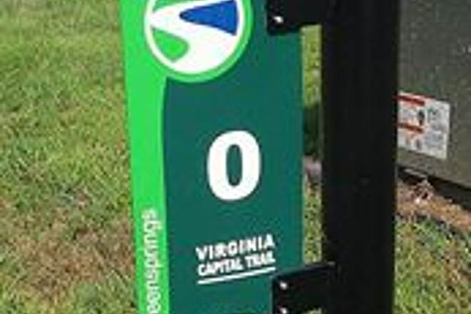 Virginia Capital Trail Greensprings Mile Marker