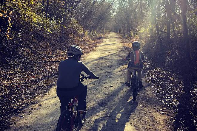 Wabash Trace Nature Trail Where we find outselves Hitting the trail with my kids is more than just riding. I often see them get quite and just listen to the trail noise around them.