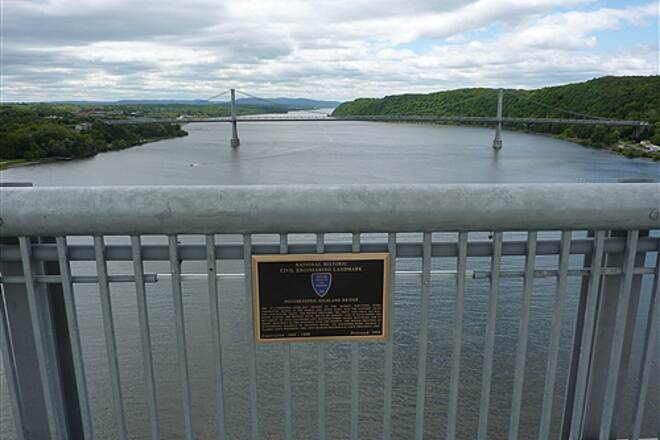 Walkway Over The Hudson Builder Plaque   Looking south on the Hudson