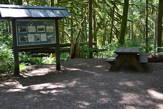 Wallace Falls Railway Trail Wallace Falls Railroad Trail Along the way, historical signs and picnic spots are provided.