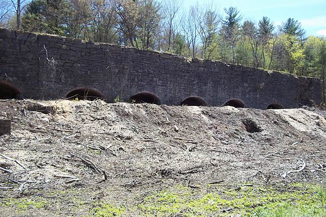 Wallkill Valley Rail Trail Ruins Ruins of a former kiln