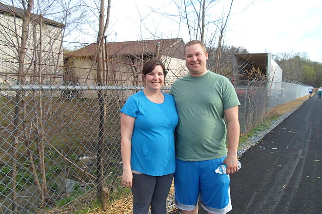 Warwick-to-Ephrata Rail-Trail Warwick-to-Ephrata Rail Trail Couple enjoying a spring evening on the trail east of Akron in April 2015.
