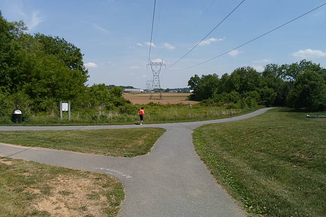 Warwick-to-Ephrata Rail-Trail Warwick-to-Ephrata Rail Trail Junction between the branch path and the Newport Square portion of the Lititz-Warwick Trailway on a sunny spring day. Taken May 2015.