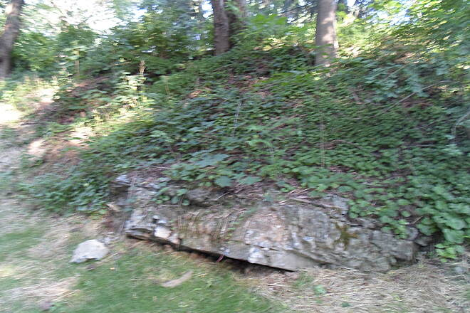 Warwick-to-Ephrata Rail-Trail Warwick-to-Ephrata Rail Trail This rock is all that is left of a geological feature that was buried when the ravine that the trail passed through was filled in on either side of Main Street earlier this year. Taken June 2015.