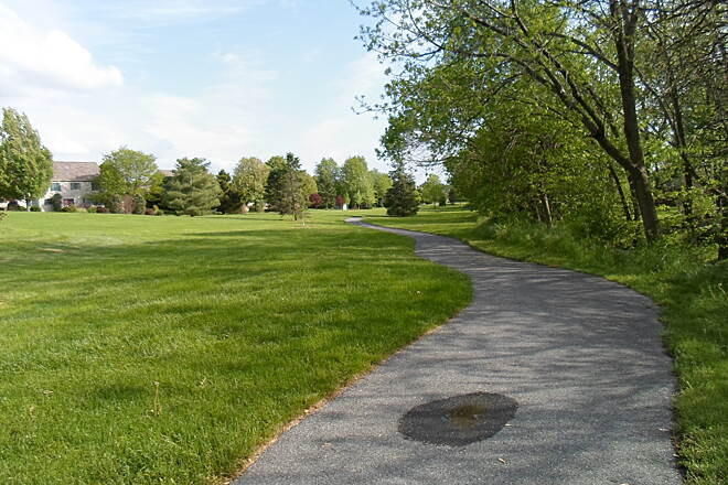 Warwick Township Linear Park Trail Warwick Twp. Linear Park Trail The trail is paved with asphalt going south from Newport Road toward Lititz.