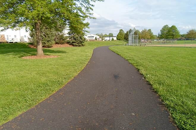 Warwick Township Linear Park Trail Warwick Twp. Linear Park Trail The trail circles around this athletic field on the north end of Lititz.