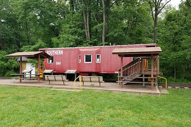 Washington and Old Dominion Railroad Regional Park (W&OD) Old Caboose on WO&D Bluemont Junction Park old Caboose in Arlington, VA
