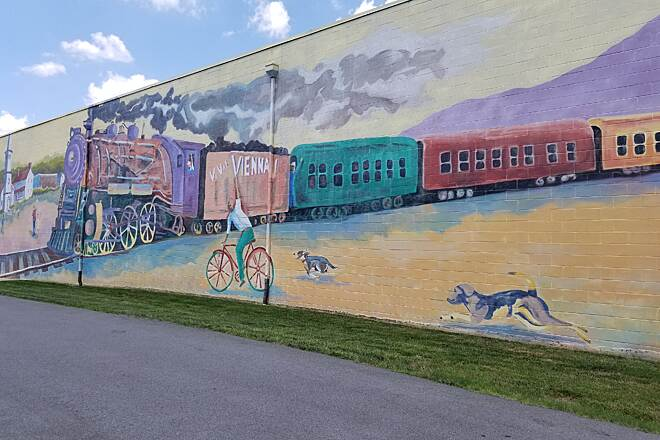 Washington and Old Dominion Railroad Regional Park (W&OD) Mural in Vienna, VA This mural is right across from Old Train Station in Vienna on WO&D Trail.