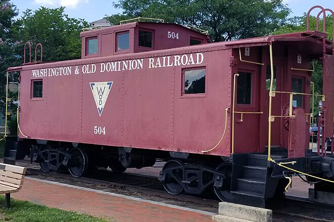 Washington and Old Dominion Railroad Regional Park (W&OD) Caboose in Herndon Just north of the Herndon old train station and park there is an old Caboose around mile marker 20.