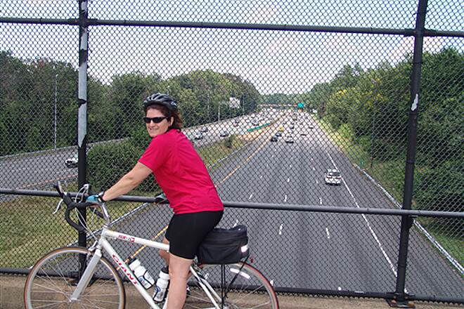 Washington and Old Dominion Railroad Regional Park (W&OD) Break on the Bridge Watch all the people drive, drive, drive.