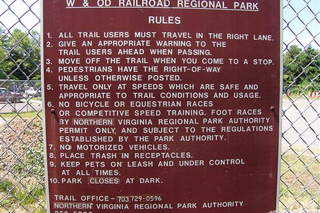 Washington and Old Dominion Railroad Regional Park (W&OD) W&OD rules the rules of the trail