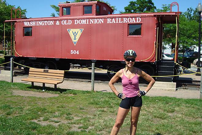 Washington and Old Dominion Railroad Regional Park (W&OD) W&OD trail - June 2009 Carole by the trail's namesake