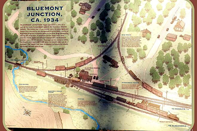 Washington and Old Dominion Railroad Regional Park (W&OD) Bluemont Junction CA 1934