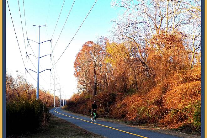 Washington and Old Dominion Railroad Regional Park (W&OD) Washington & Old Dominion Trail between Wilson Blvd and Carlin Springs Rd, ARL.