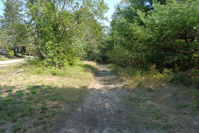 Washington Secondary Bike Path Looking east at Greene, RI This is the current trail looking east at Greene, RI on 9/4/16