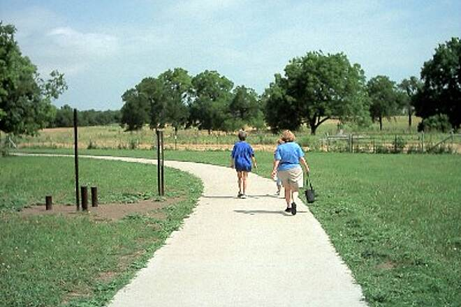 Waxahachie Creek Hike & Bike Trail Trail Walkers These trail users are out for a leisurely stroll.