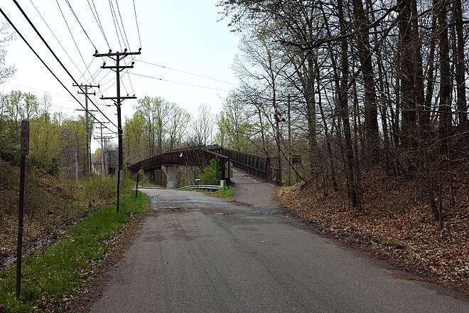 WB&A Trail Bridge Over Laurel-Bowie Rd