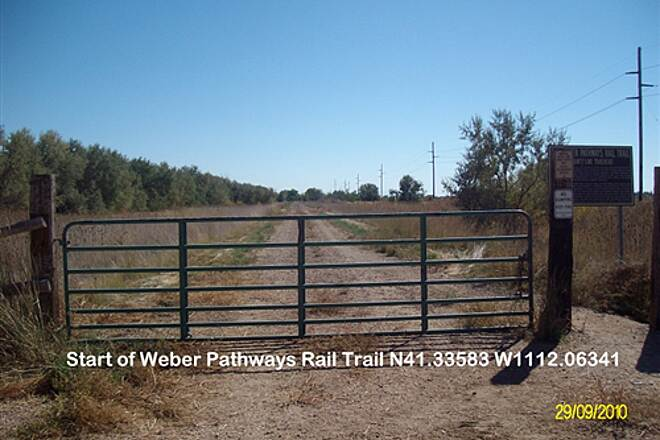 Weber Pathways Rail Trail Little Mountain Rail Trail Start going South