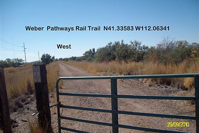 Weber Pathways Rail Trail Little Mountain Rail Trail Trail going SWest from 4200W St