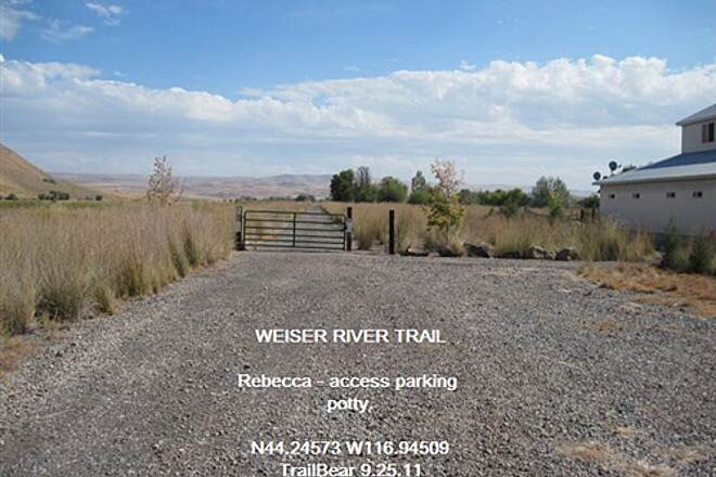 Weiser River National Recreation Trail WEISER RIVER TRAIL Access parking at Rebecca outside of Weiser.