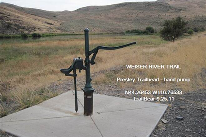 Weiser River National Recreation Trail WEISER RIVER TRAIL Using the drinking fountain while pumping is a challenge.