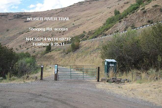 Weiser River National Recreation Trail WEISER RIVER TRAIL Parking and portapotty @ Shoepeg Access