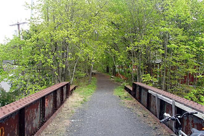West Essex Trail  Looking north over the Rt 23 bridge