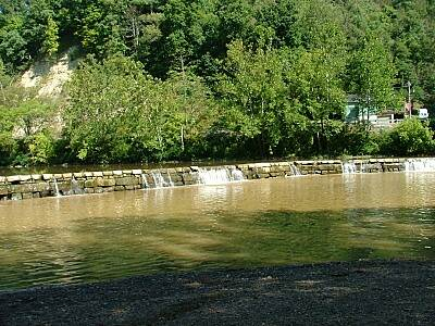 West Fork River Trail Dam on West Fork River near Worthington
