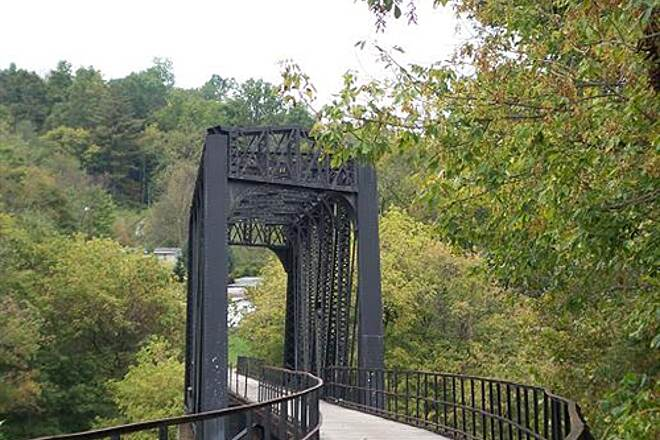 West Fork River Trail  Bridge in Fairmont.