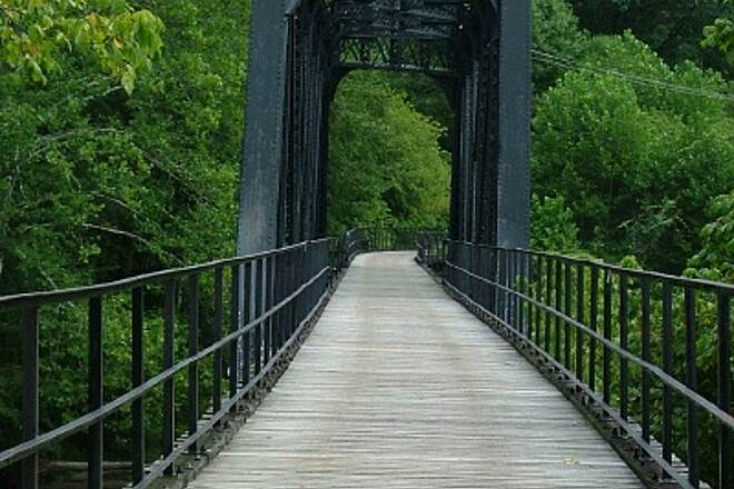 West Fork River Trail Bridge Over West Fork River at Norway/Fairmont