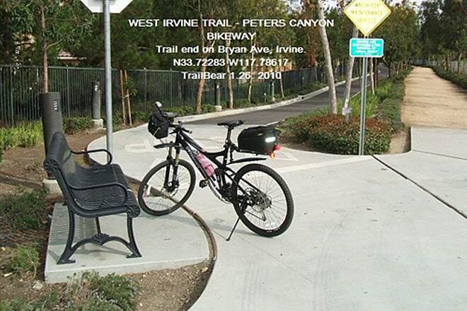 West Irvine Trail WEST IRVINE TRAIL - PETERS CANYON BIKEWAY Bryan Ave. trail end
