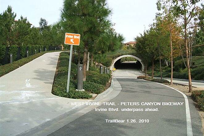 West Irvine Trail WEST IRVINE TRAIL - PETERS CANYON BIKEWAY Irvine Blvd. underpass