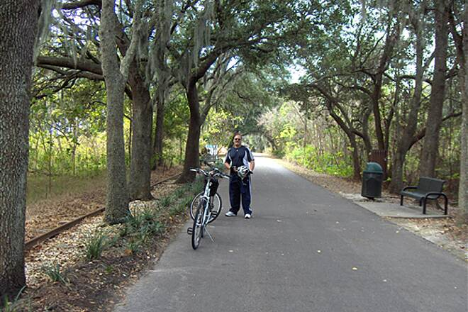 West Orange Trail West Orange Trail Picture taken next to Grand Oak Trees