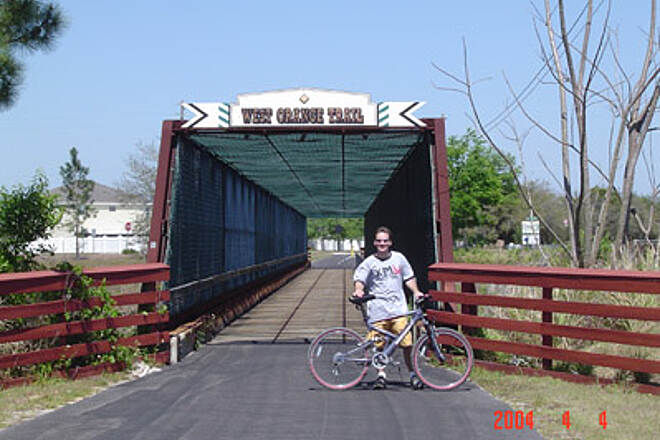 West Orange Trail West Orange Bridge A bridge made specially for us riders to get across the Florida Turnpike. How sweet.