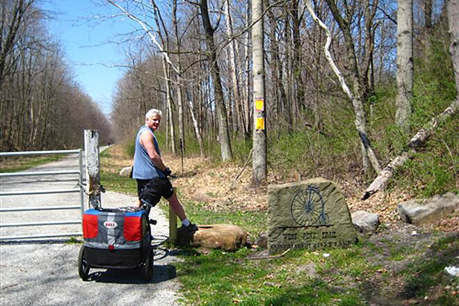 West Penn Trail April 20, 2008 The trailhead near Blairsville