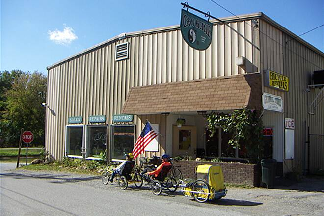 Western Maryland Rail Trail   C&O Bike Shop, Hancock, MD  Oct. 2005