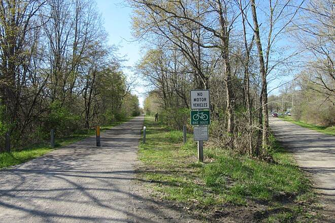 Western Reserve Greenway Trail-April 2015 Along the trail