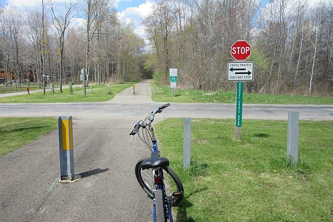 Western Reserve Greenway Trail Along the trail - April 2015
