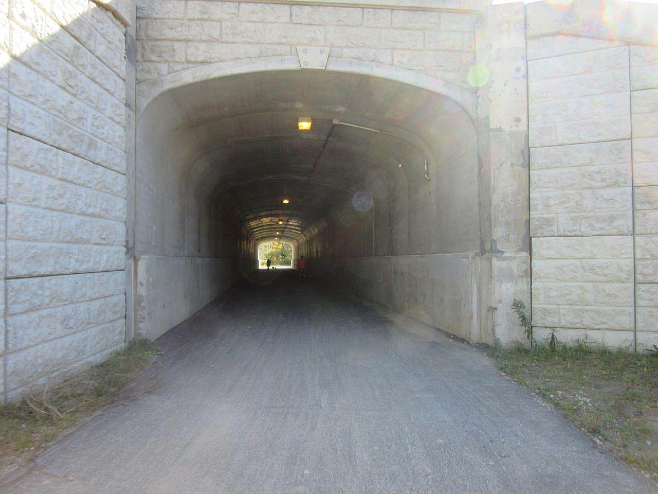 Western Reserve Greenway I-90 underpass Where the trail goes under Interstate 90, Austinburg