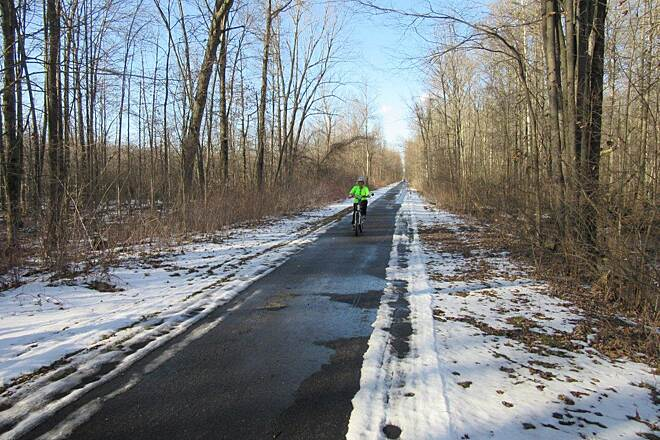 Western Reserve Greenway Winter Day February 2016, Winter day along the trail.  Unseasonal warm temps!